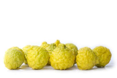 Group of Yellow bergamot lime lemon sour  Stock Photo