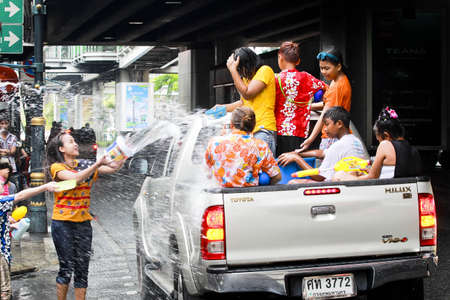 Songkarn festival in Bangkok, Thailand 15 April 2014 Editorial
