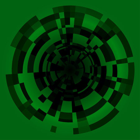 technic: Green technic science abstraction vector