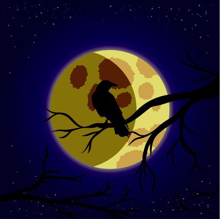 corvus: night raven on the moon