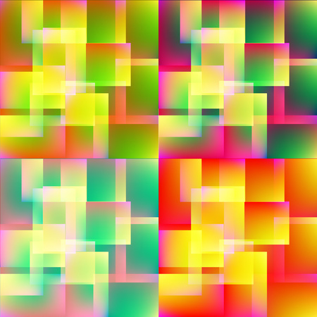 iridescent: background colored iridescent multicolored squares Stock Photo