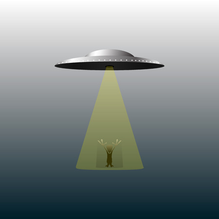 hover: Abstract UFO and alien background