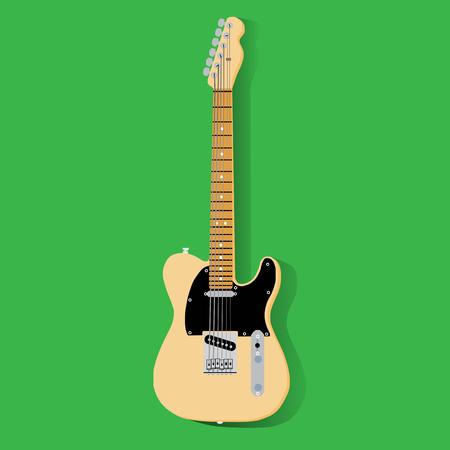 strumming: Isolated guitar, eps 10 vector Illustration