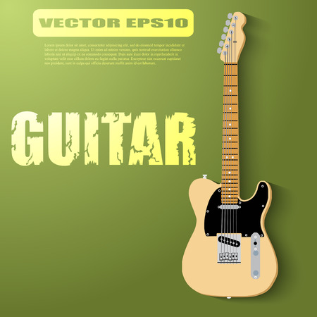 lead guitar: Isolated guitar, eps 10 vector Illustration