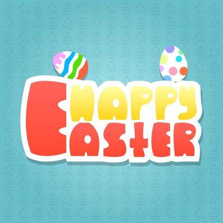 typographical: Happy Easter Typographical Background. Illustration