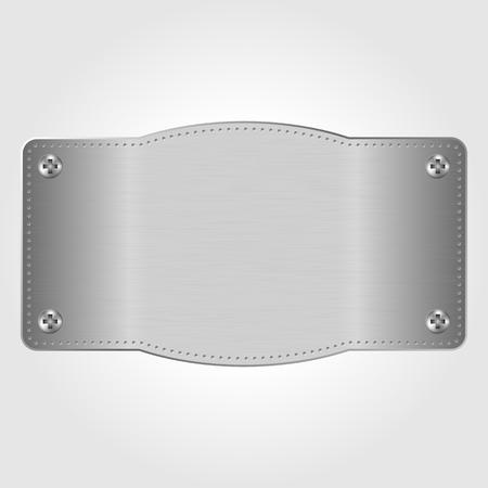 speaker grille pattern: Metal texture plate with screws, illustration Illustration