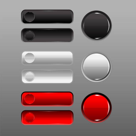 prominence: button set Red , black, white, add prominence