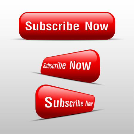subscribe now: button subscribe now red