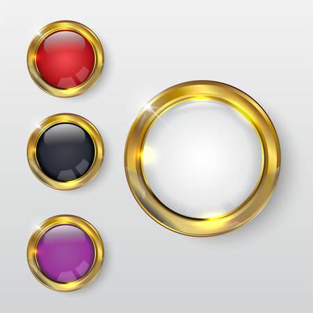 Button premium glossy Gold