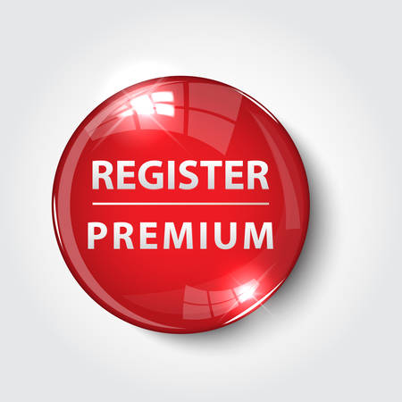 Button register Now color red glossy vector