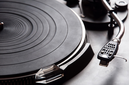 turntable: Old fashioned turntable Stock Photo