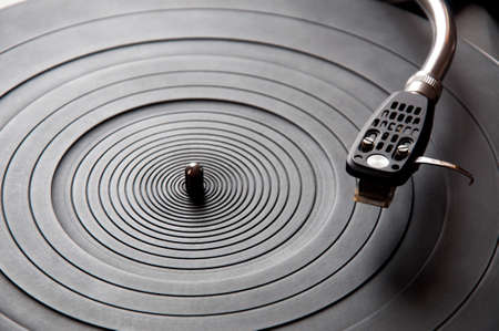 audiophile: Music turntable Stock Photo