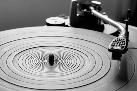 audiophile: Music vinyl turntable Stock Photo