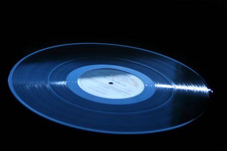 lp: Vinyl record lp isolated on black background
