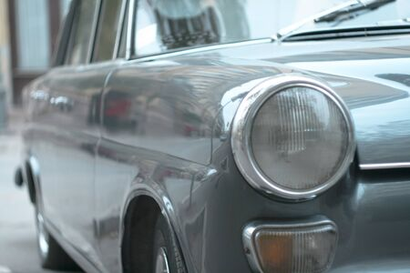 old timer: Old timer car front Stock Photo