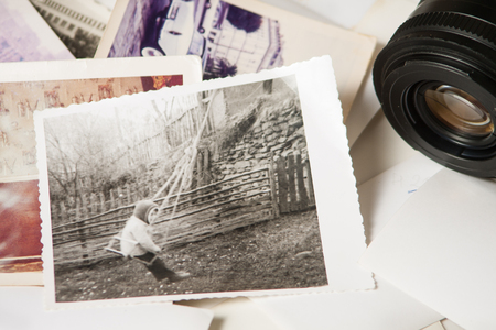 Old photograph memories 写真素材