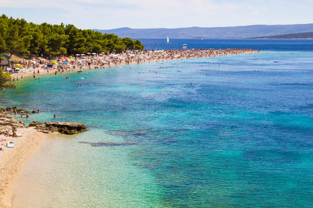 Beach Zlatni Rat in Bol, island of Brac, Croatia