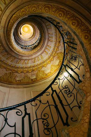 Spiral staircase in old monastery Reklamní fotografie