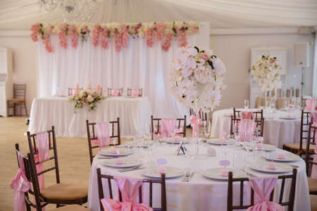 Blank ad space frame sign - Wedding Setup decoration during Reception - Tender pink and white color - Zephyr and marshmallow details