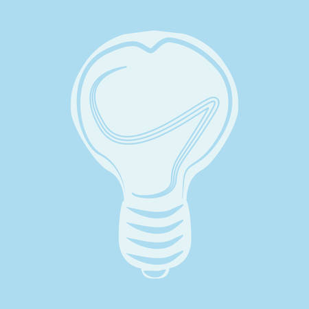 Flat style lamp icon. For business process.