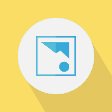 Flat style picture icon with shadow.