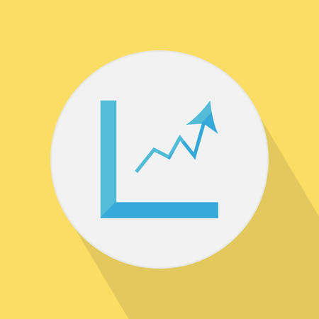 Flat style statistic icon with shadow.