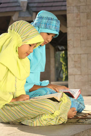 Islam, Muslim Kids Reading Koran