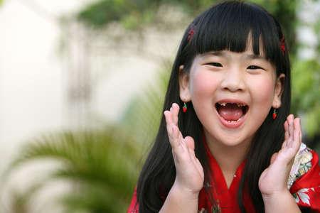 ni�a gritando: Chica de Screaming