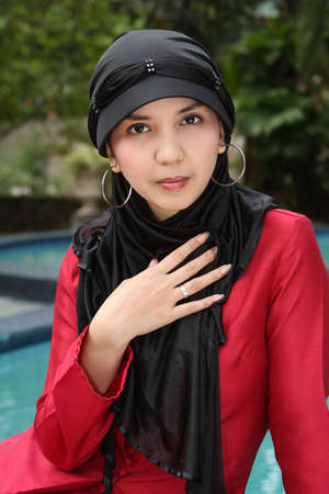 jilbab: Islam, Muslim Woman Stock Photo