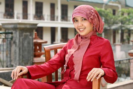 middle eastern clothing: Islam, musulmani Business Woman Archivio Fotografico