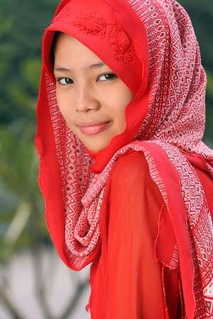 jilbab: Muslim Young Lady Stock Photo