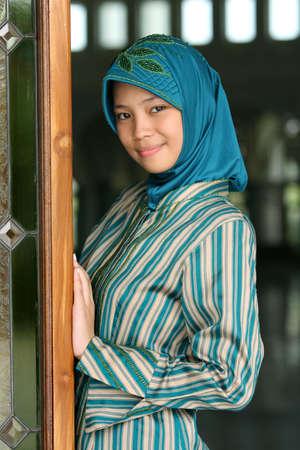 jilbab: Muslim Girl  Stock Photo