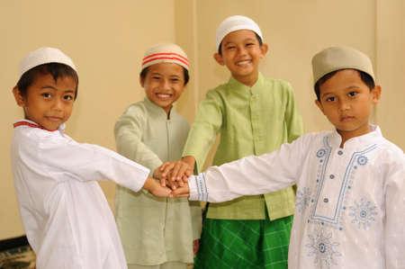 solidaridad: La amistad, los ni�os musulmanes