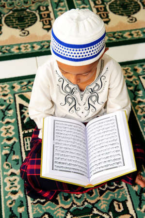 Muslim Child Reading Koran