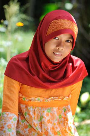 petite fille musulmane: Musulmane Girl Banque d'images