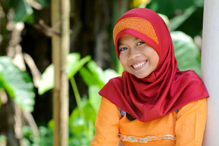 Hapy Muslim Girl Stock Photo - 6846512