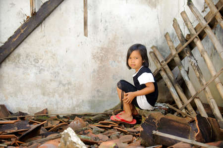 Armoede kind Stockfoto