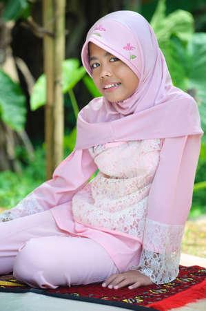 petite fille musulmane: Musulmans adolescente Girl Banque d'images