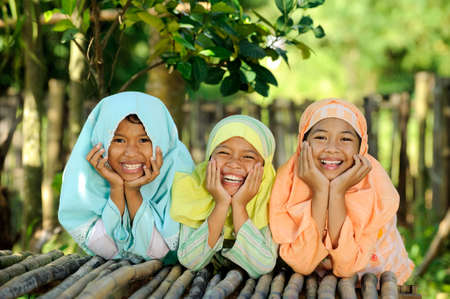 Group of Indonesian kids