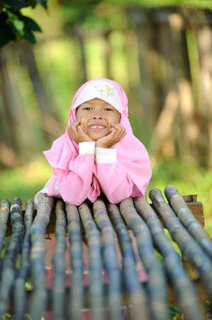 petite fille musulmane: Enfant indon�sienne