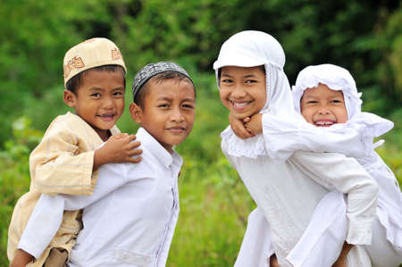 indonesia people: Happy Children Stock Photo