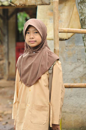 indonesia girl: Muslim Teenager Student Girl