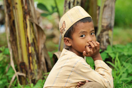 Indonesian Child Stock Photo