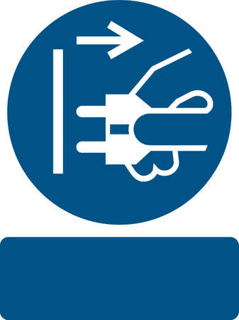 mains: Disconnect mains plug from electrical outlet Illustration