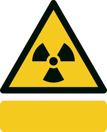 ionizing radiation: Warning; Radioactive material or ionizing radiation