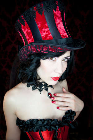 Burlesque dancer  Stock Photo