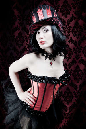 fetish wear: Burlesque dancer  Stock Photo