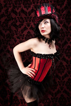 Burlesque dancer  Stock Photo