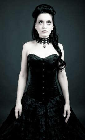 Portrait of a gothic woman  photo