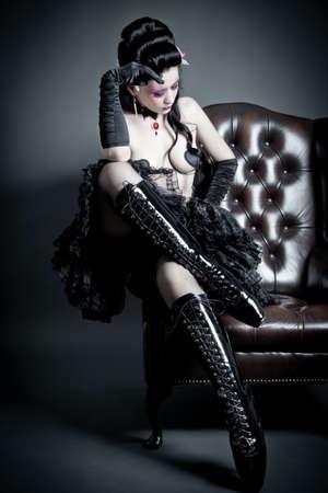 fetysz: Dreaming kobieta z baletu butach Zdjęcie Seryjne